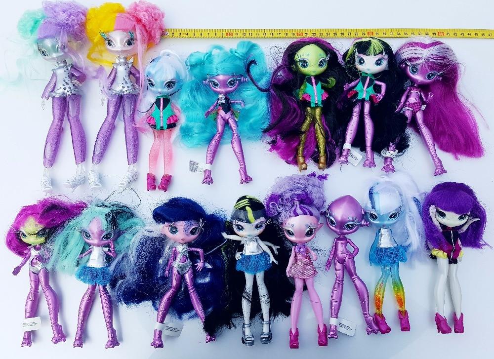 D0112-8 Children Girl Birthday Gift  Doll Novi Stars Una Verse Doll Alien Star With Clothes Joint Body 1pcs