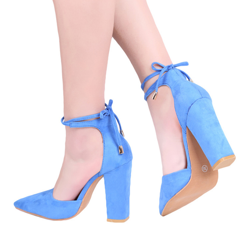 2018 spring new women shoes basic style retro fashion high heels pointed toe office & ca ...