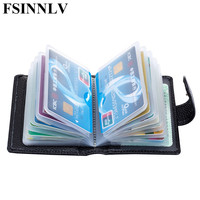 2017 New Genuine Leather Unisex ID Card Holder 5 Colors Card Wallet Credit Card Business Card
