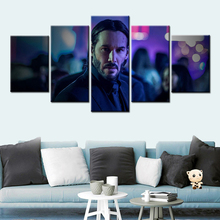 John Wick movie poster 5 Pieces HD Wall Art and Prints Canvas Art Paintings wall pictures for living room Decor