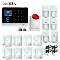 SmartYIBA Free Shipping IOS Android App Control 100 Wireless Home Security Wifi Gsm Alarm System 8