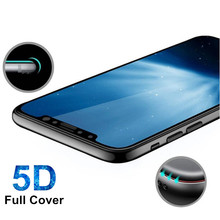 5D Curved Tempered Glass for IPhone X 8 7 6 6s Plus Screen Protector Film for iPhone 7 Plus 8 6plus Tempered Glass