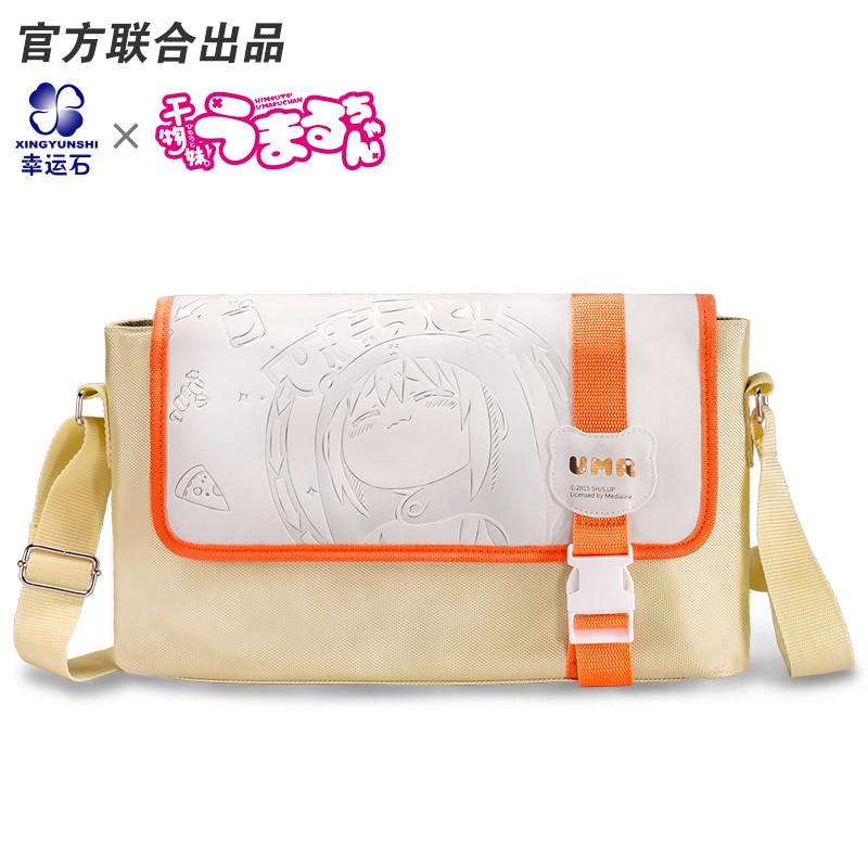 Himouto umaru chan anime student shoulder crossbody bag comics cartoon anime pu short yellow purse button wallet printed with doma umaru of himouto umaru chan