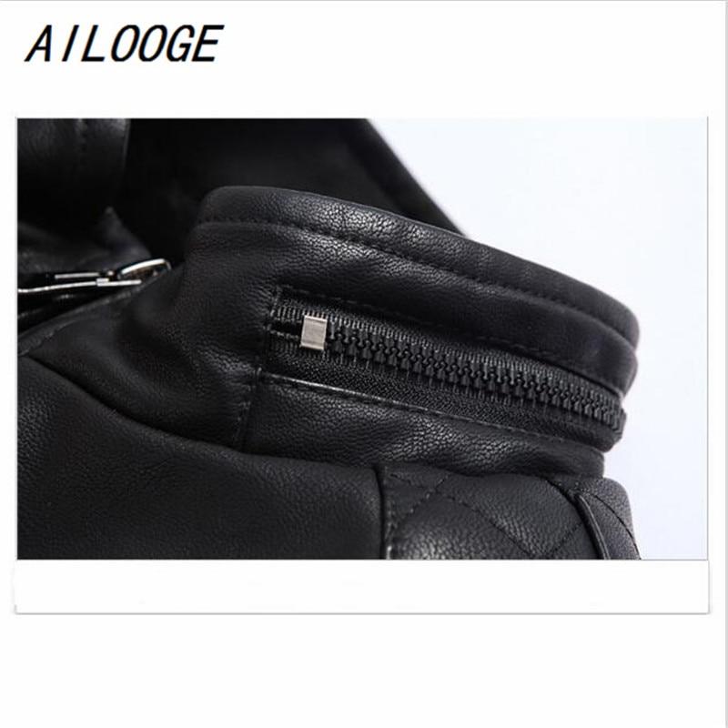 Col Véhicule L Grande 4xl Montant Hz135 Hommes Ailooge Cuir Pu Taille Automne Hiver Black Zipper Style Vêtements Veste Moteur nwZBxYPq