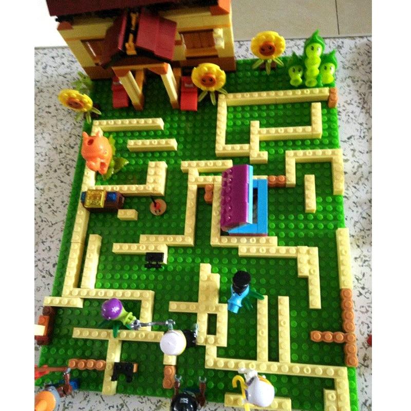 385Pcs Plants vs Zombies Garden Maze Struck Building Blocks Bricks Toy For Kids