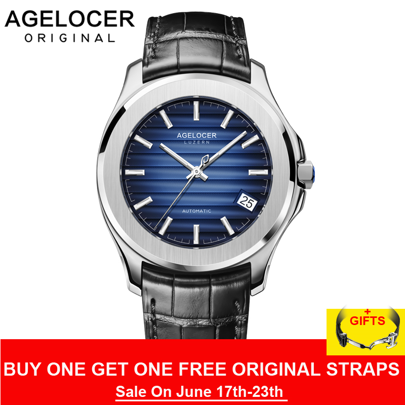 AGELOCER Switzerland Men Watch Top Brand Luxury Male Leather Waterproof Sport Automatic Mechanical Wrist Watch Men Clock relogioAGELOCER Switzerland Men Watch Top Brand Luxury Male Leather Waterproof Sport Automatic Mechanical Wrist Watch Men Clock relogio