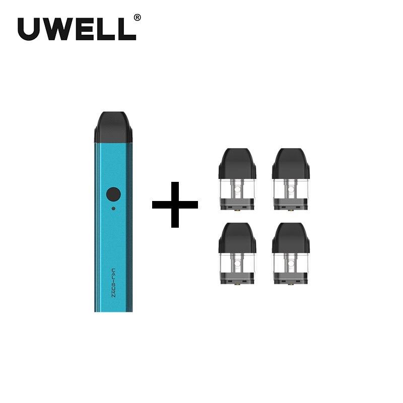 ¡En Stock! Kit de sistema portátil UWELL Caliburn y 1 paquete de cartucho rellenable de 2 ml kit de - 6