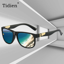 Classic Matt Square Plastic Polarized Sunglasses Tidien Brand Designer Driving Travel Sun Glasses Men 0974