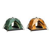W pełni Automatyczne Namiot Przenośny Wodoszczelna Namiot Podwójne Warstwy Odkryty Camping Piesze Wycieczki Wędkowanie Plecakiem Namiot Dla 3-4 Osób