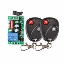 AC 220 V 10A 1CH Inalámbrico RF Interruptor Remoto Inalámbrico de Luz de Lámpara LED Interruptor 1 Receptor 2 Transmisor Remoto 315 433 Ab controlador