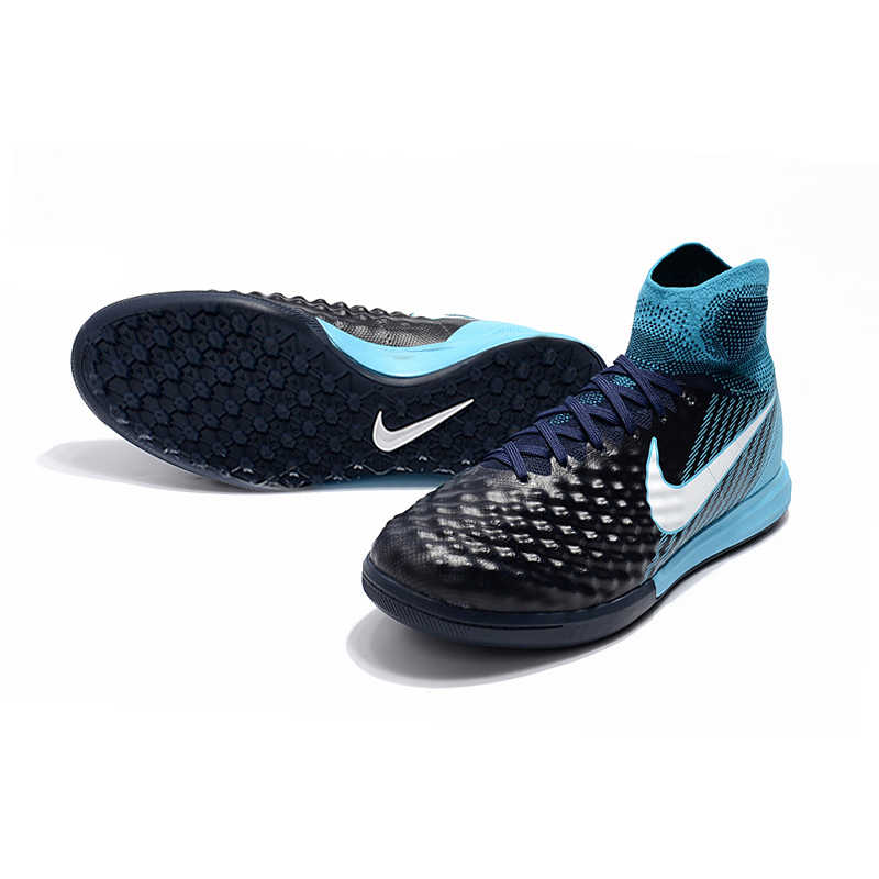 2851ab21e70b ... NIke MagistaX Proximo II TF Soccer Sneakers Blue Outdoor Lawn High  Quality Men Football Shoes 843958