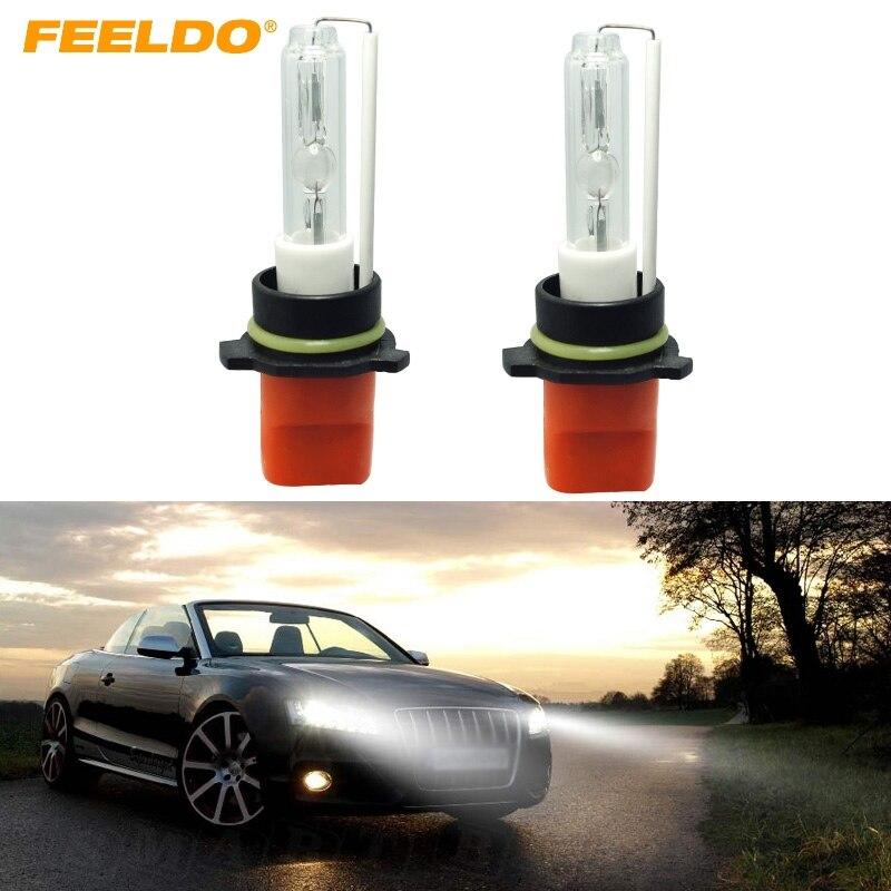 FEELDO 1Pair White 6000K Car 12V 35W P13W Xenon HID Bulbs Replacement HID Headlights Singel Bulbs