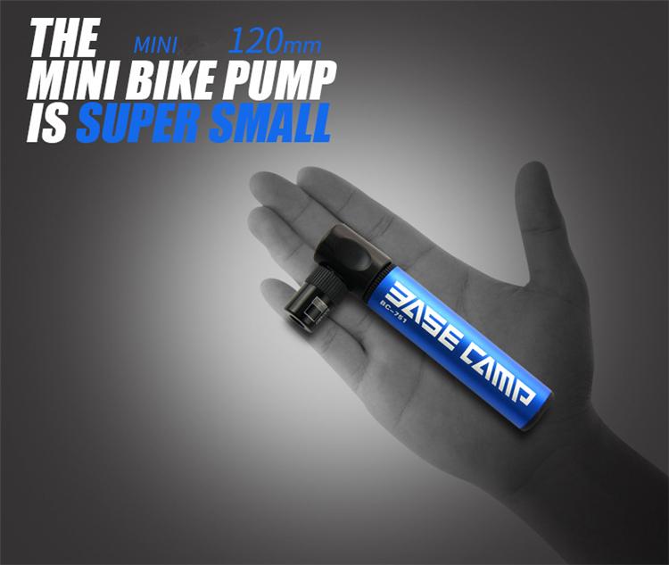2  Bestgia Mini Portable Bike Tire pump Aluminum Alloy Bicycle Air Pump Super Light 45g Bike Pump 100 Psi Bike dual nozzle Inflator Small Accessory