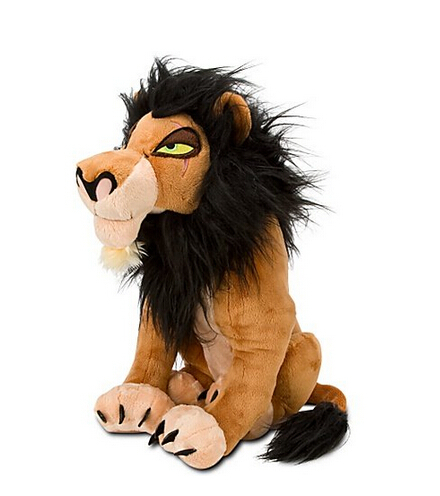 The Lion King Exclusive Big Size Deluxe Plush Figure Scar Plush Toys 34cm transformation robot the last night age of extinction deluxe class figure dark guard exclusive collectible toys