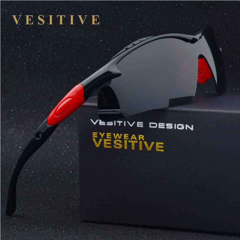 Brand New Polarized Sunglasses Men Black Cool Outdoor Sport Sun Glasses High Quality Fishing Eyewear Gafas V8504