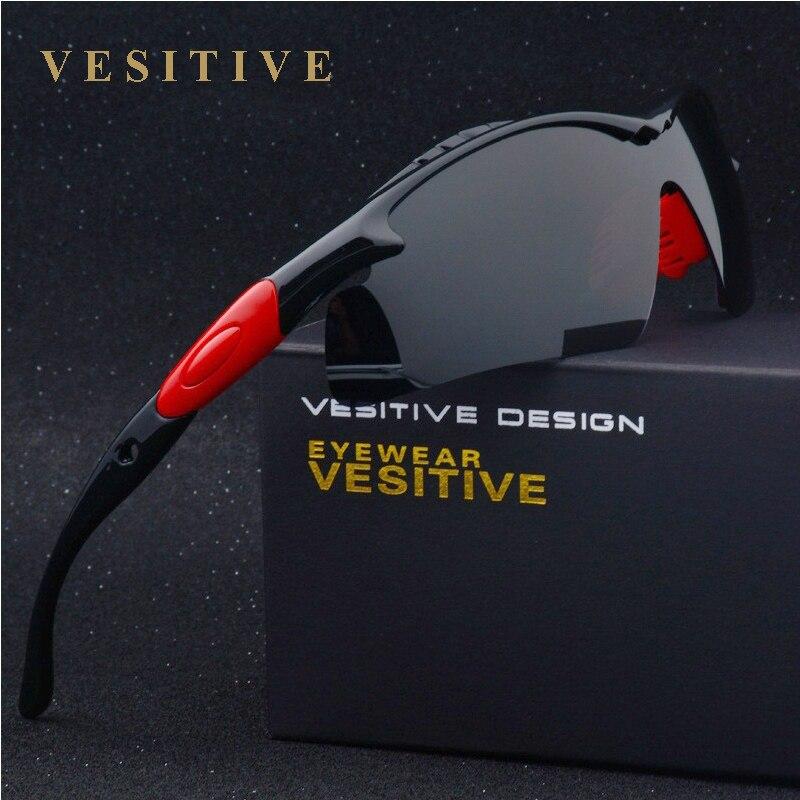 Marque New lunettes de Soleil Polarisées Hommes Noir Cool 2017 Sport Lunettes de Soleil de Haute Qualité De Pêche Lunettes Lunettes V8504