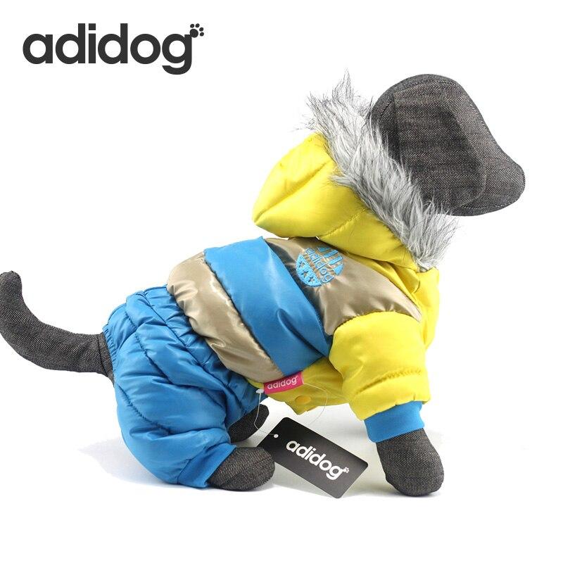 Adidog invierno perro mascota abajo más gruesa impermeable Pet gato ropa abrigos chaquetas para Chihuahua pequeños perros grandes S-6XL
