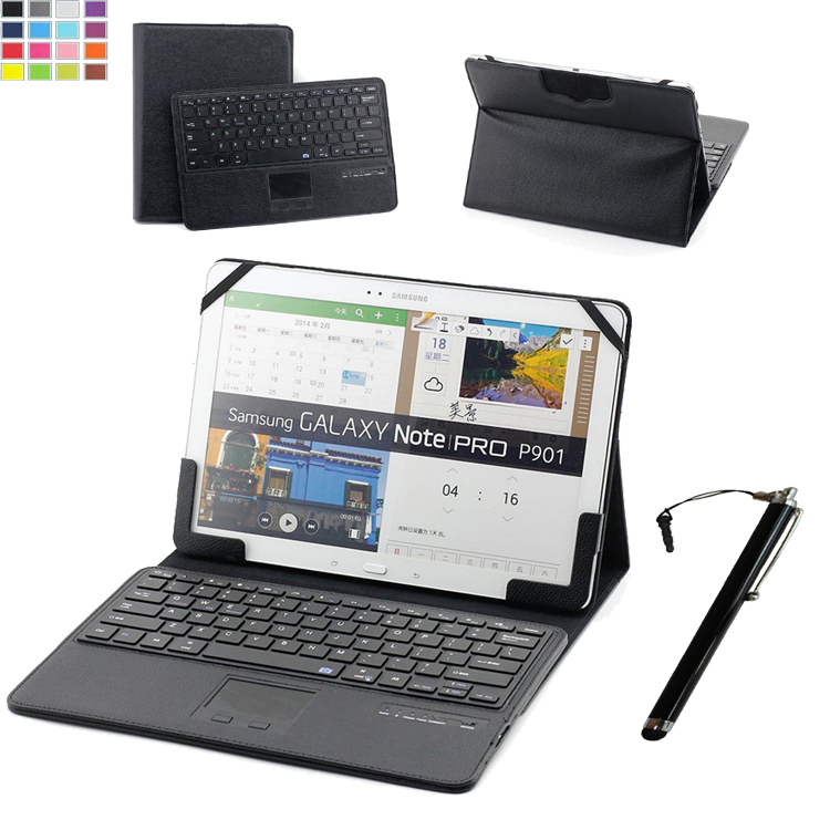 ФОТО Universal 11 11.6 12 Inch Tablet DETACHABLE Romovable Bluetooth Touchpad Keyboard Portfolio Case W/ Bluetooth Camera Function