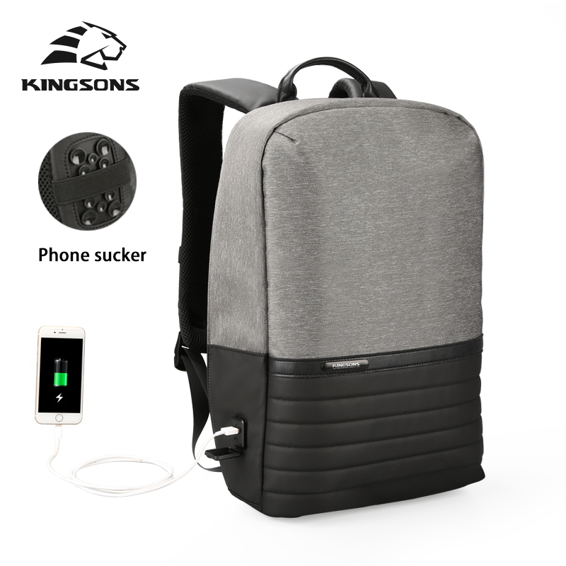 Kingsons 2018 15.6 Inch laptop new men backpack fashion travels pack bag Bagpack Casual Backpack Male Best College Student peterson s best college admission essays