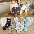 Halajuku New Fashion Soft Milk Box Printed Vintage Casual Female Socks