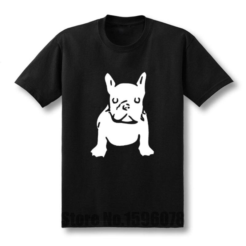 French Bulldog T Shirt Men Short Sleeve Fashion Cotton Streetwear Anime Dogs T-Shirt Cartoon Men Clothing Tops
