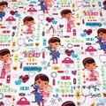 Breite 140 cm Cartoon Puppe 100% Baumwollgewebe Arzt Große Puppe. bedruckten stoff patchwork nähen material diy mädchen kleid stoff|Stoff|Heim und Garten -