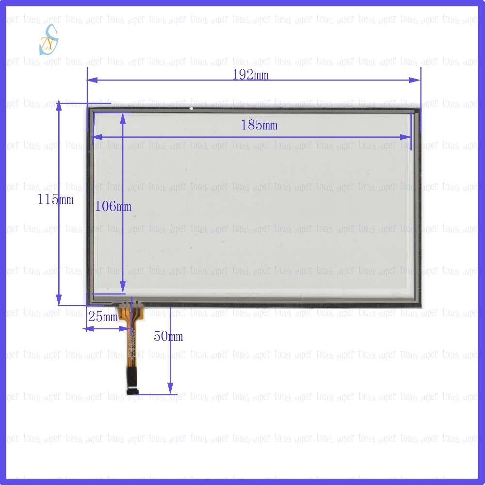 ZhiYuSun  192mm*115mm KDT-6929  8inch Touch Screen glass  resistive USB touch panel overlay kit  192*115 TOUCH SCREEN 98 inch monitor ir touch screen 2 points infrared touch screen panel ir touch screen frame overlay with usb