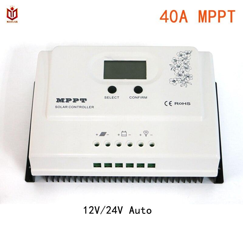 купить MAYLAR 40A MPPT Solar Charge Controller 12V 24V Auto for Max. DC 150V Input PV Battery Regulator with RS485 wifi and USB 5V3A по цене 9359.77 рублей