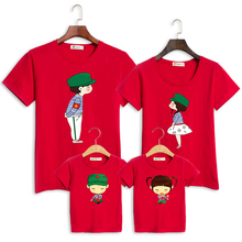 family clothes fashion mother father daughter son family matching T shirt baby girl boy shirts for family summer outfits