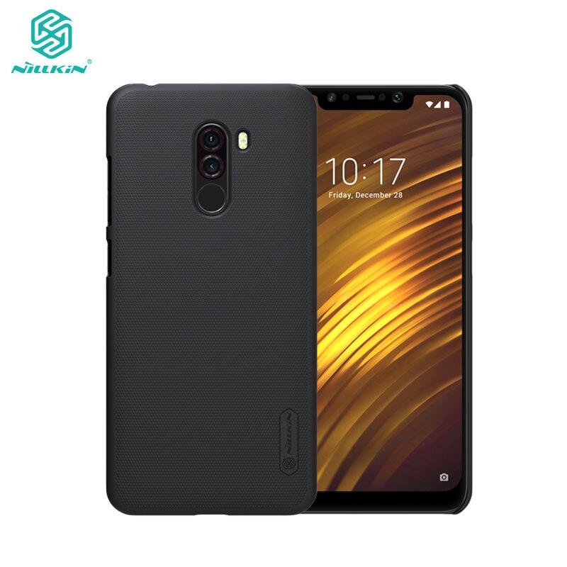 Xiaomi Pocophone F1 caso Nillkin mate escudo duro caso para Pocophone F1 POCO con el titular del teléfono