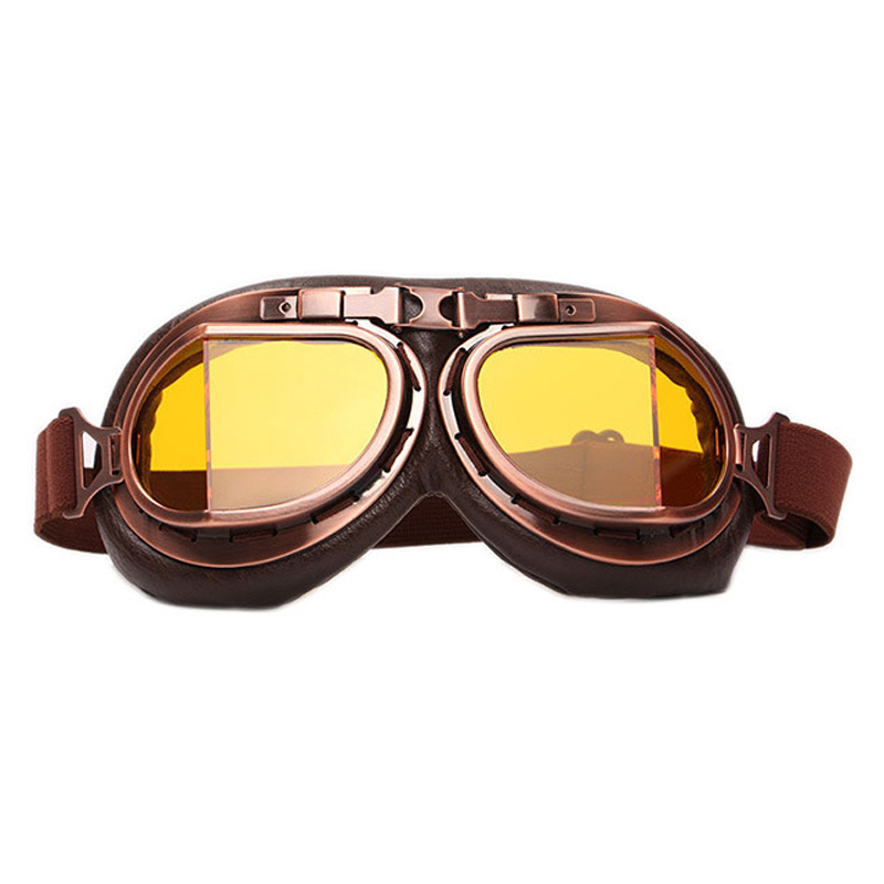 d6deda8a33 AMZ WWII Vintage Harley style motorcycle Motorbike gafas motocross moto  goggles Scooter Goggle Glasses Aviator Pilot Cruiser