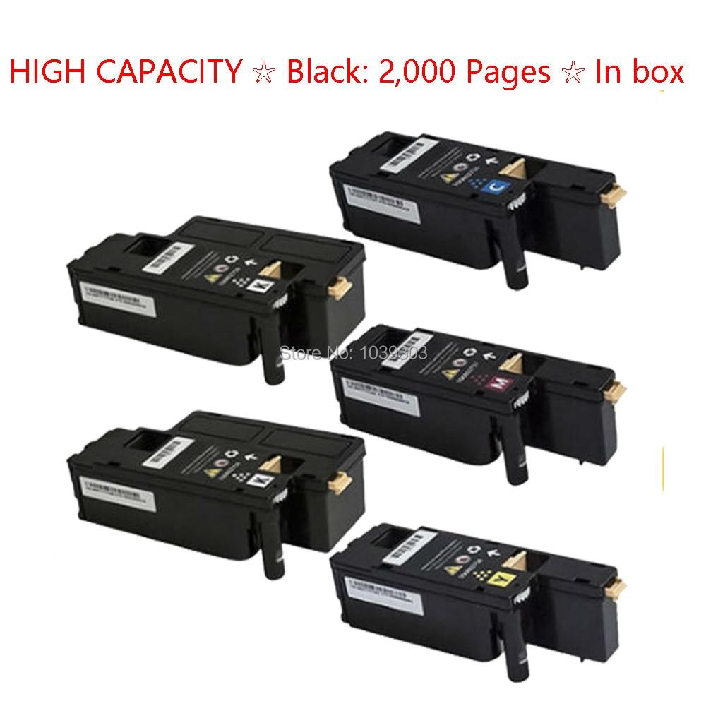 2 Multi-lot NEW Black Toner Cartridge For Dell Laser 1250 1355cn C1760nw Printer