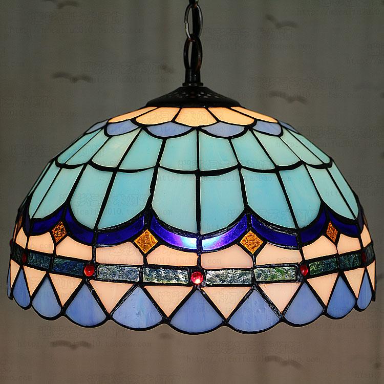 European Mediterranean Tiffany Retro Pendant Light Hallway Cozy Creative Lamp Bar Corridor