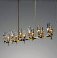 Modern Design 12 Lights Chandelier / Brass Lamp / Glass Shade