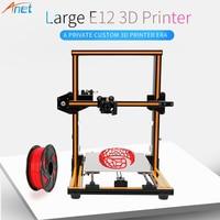 2018 Newest ! Anet E10 E12 3D Printer Large Printing Size High Precision Reprap Prusa i3 DIY 3D Printer Kit with Filament Free