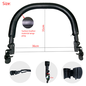 Image 3 - Baby Carriage Bumper Bar PU Leather Multi angle Adjustable Armrest For Babyzen yoyo Stroller Accessories Pram Bar handrail