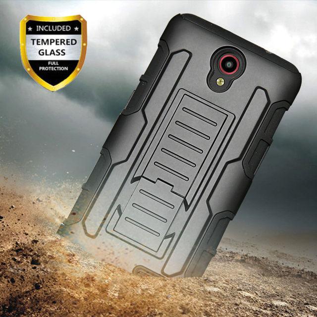 Shockproof Heavy Duty Armor Case With Belt Clip Holster Cover For ZTE Prestige 2 N9136/Maven 3 Z835/Prelude+ Z851/Overture 3 @