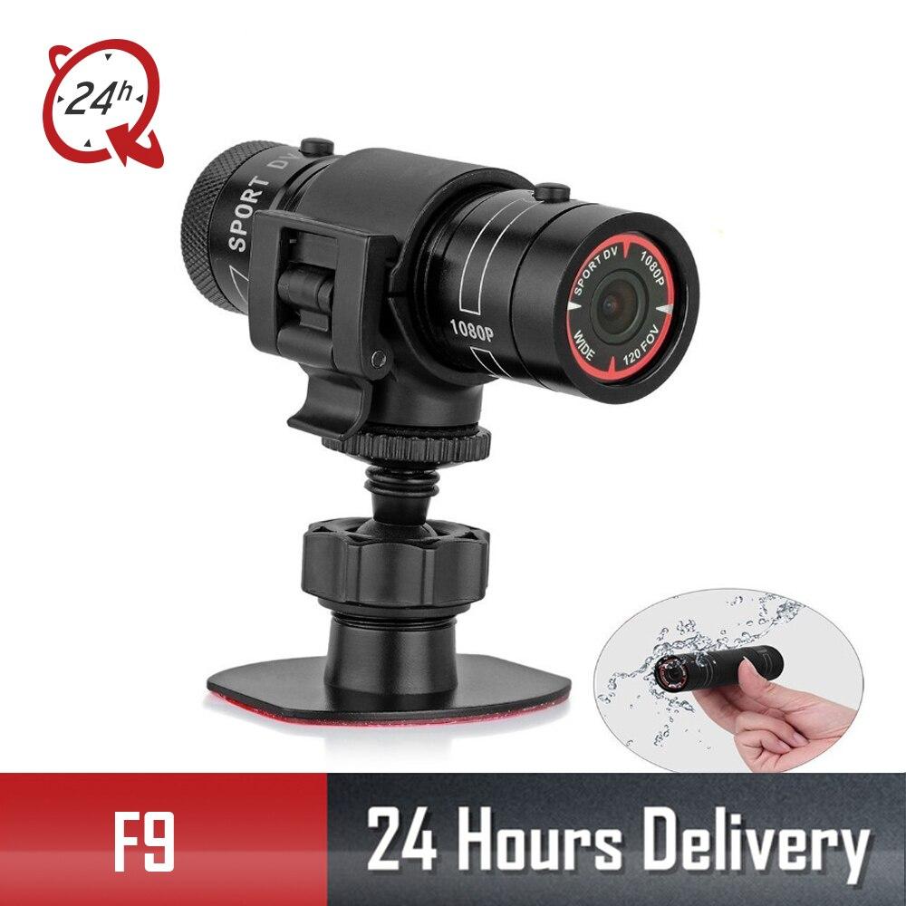 Mini F9 vélo caméra HD vélo moto casque sport Action caméra vidéo DV caméscope Full HD 1080 p voiture enregistreur vidéo