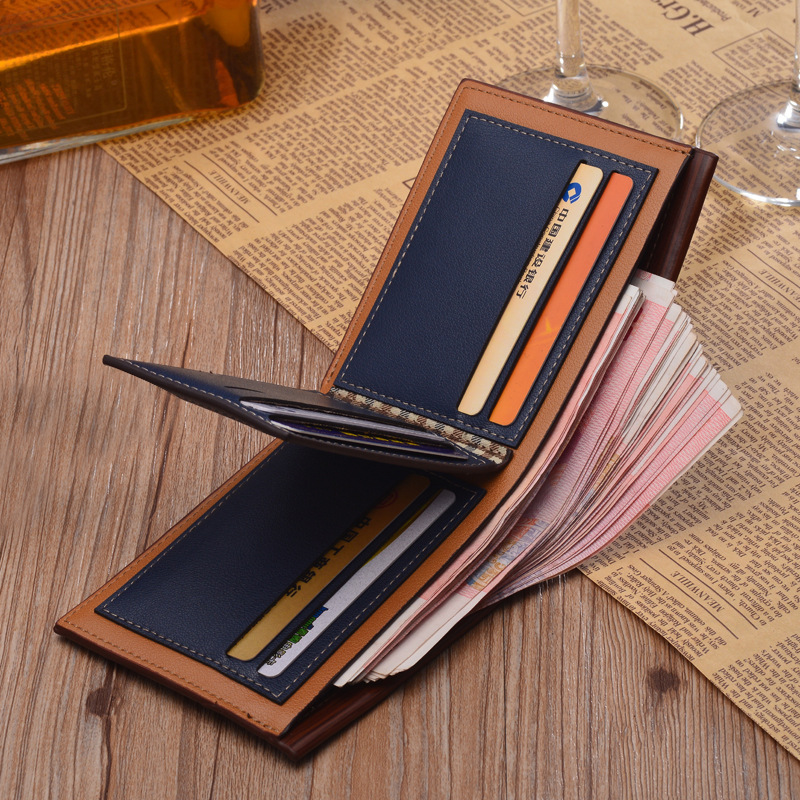 ba649795190a US $4.94 8% OFF|Top 2017 Vintage Men Leather Brand Luxury Wallet Short Slim  Male Purses Money Clip Credit Card Dollar Price Portomonee Carteria-in ...