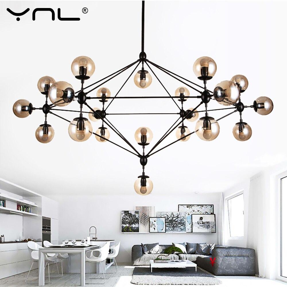 Chandelier Ceiling Nordic Modern Magic Beans Bubble Glass Ball Led Pendant Lights Hanging light Use E27 LED Light Bulb