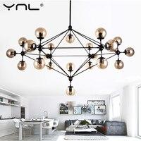 Kroonluchter Plafond Nordic Moderne Magische Bonen Bubble Glas Bal Led Hanglampen Opknoping licht Gebruik E27 LED Gloeilamp