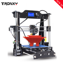 Tronxy 2017 New Prusa I3 Aluminium Extrusion 3d Printer kit new ramps 3D printing Heated Bed 8GB SD card AS Gift PLA/ABS choose