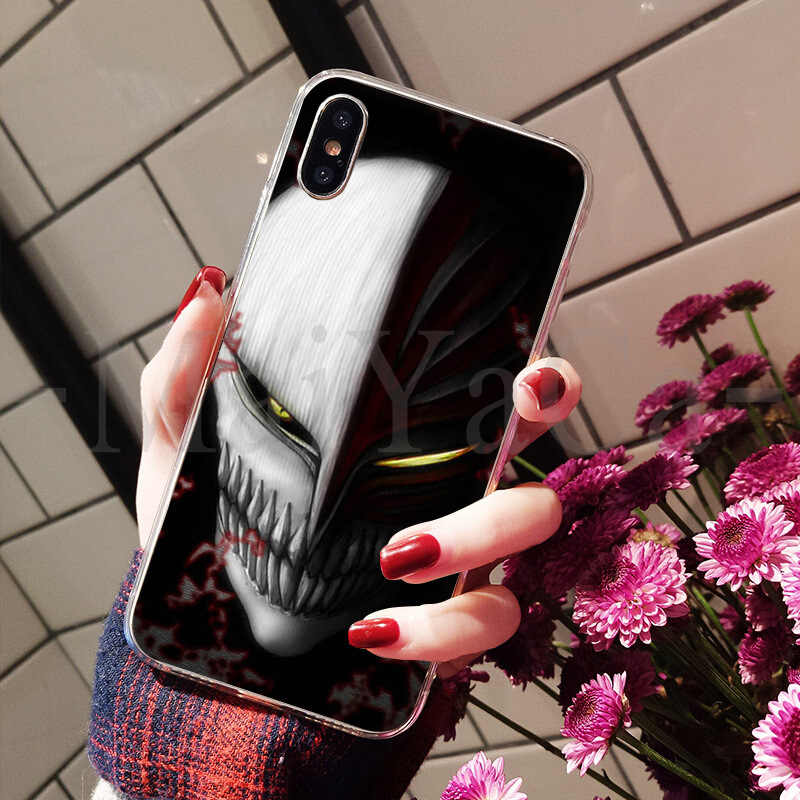 MaiYaCa lejía ichigo máscara de Hollow superior detallada funda para teléfono popular para el iPhone 8 De Apple 7 6 6S Plus X XS X max 5 5S SE XR cubierta