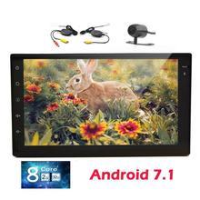 7″ Android 7.1 Double Din Car Stereo Octa Core GPS Head Unit Bluetooth AM/FM Radio Receiver WiFi/1080p/OBD2+Wireless Rear camera