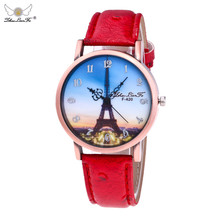 Informal Watches Eiffel Tower Ladies Trend Leather-based Band Bayan Kol Saat Analog Feminine Clock Quartz Wrist Watch Relogio Feminio