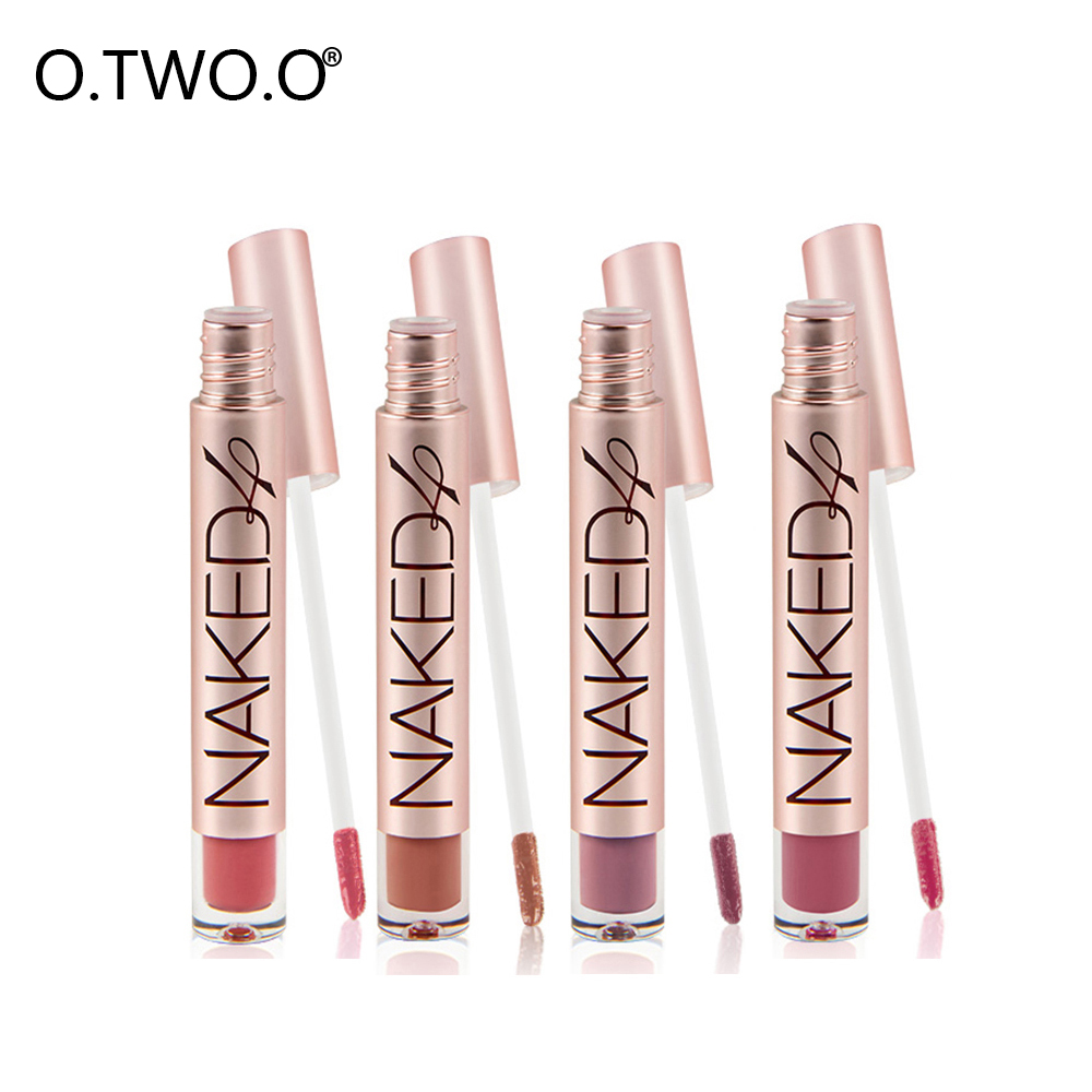 O.TWO.O Matte Liquid Lipstick Long Lasting Lips Make Up Matte Lip Gloss Moisturizer Smooth Lip Stick Easy To Wear Kissproof 3concept eyes 4 pen style moisturizing lipstick lip gloss pink