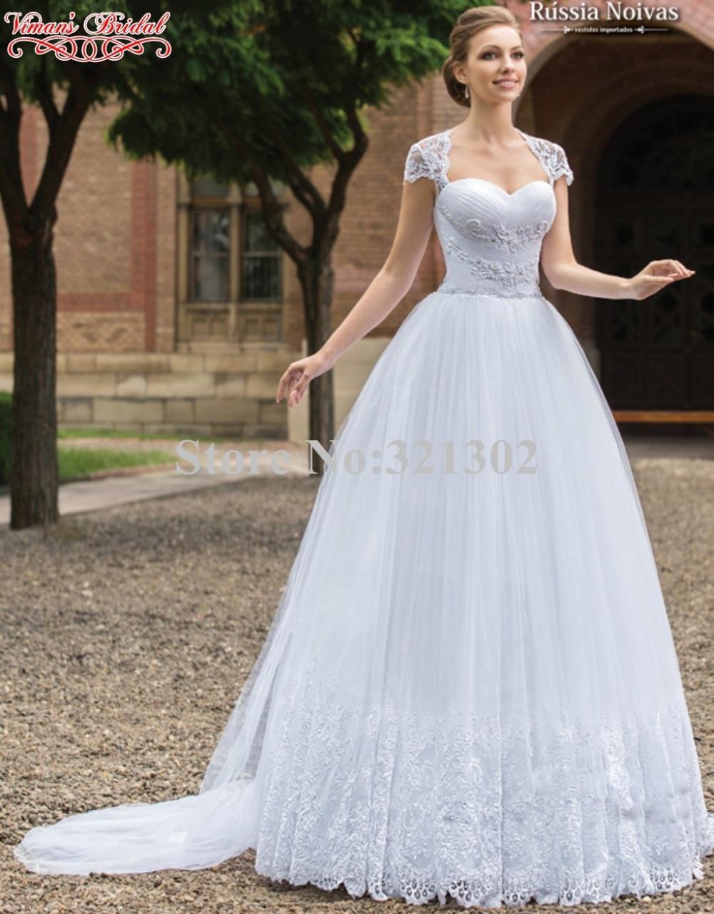 2015 new design white wedding dresses appliques lace for Design your wedding dress app
