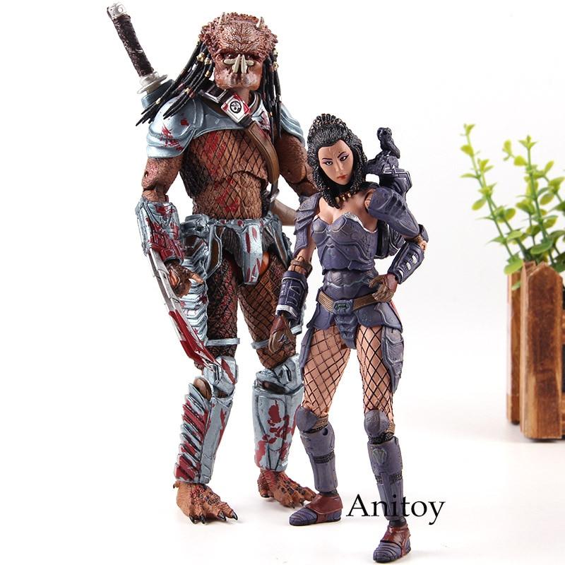 AVP Alien Vs Predator Toys Action Figures Machiko Noguchi Hornhead Predator PVC Collection Model Toy