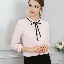 New Spring Autumn Tops Office Ladies Blouse Fashion