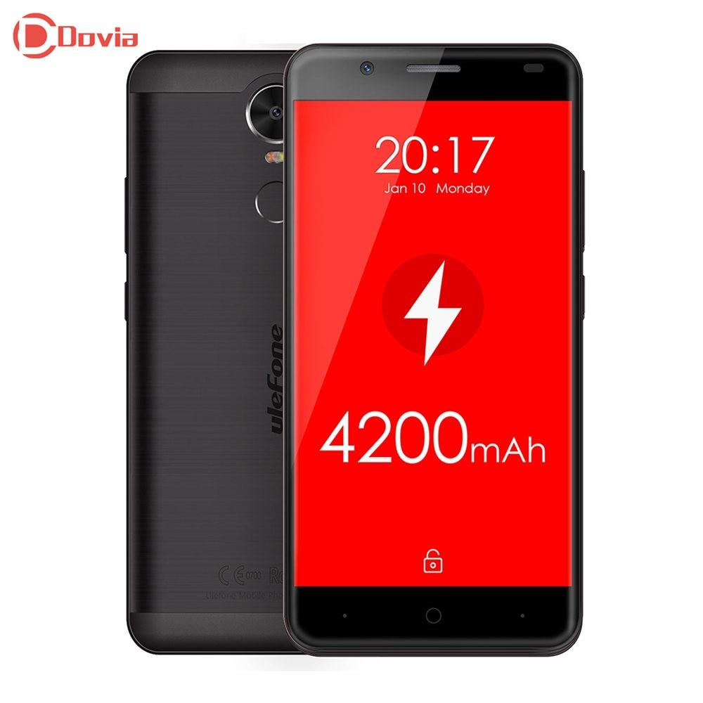Цена за Ulefone mtk6737 тигр android 5.5 дюймов 4 г смартфон quad core 2 ГБ ram 16 ГБ rom 8.0mp камера отпечатков пальцев сканер мобильный телефон